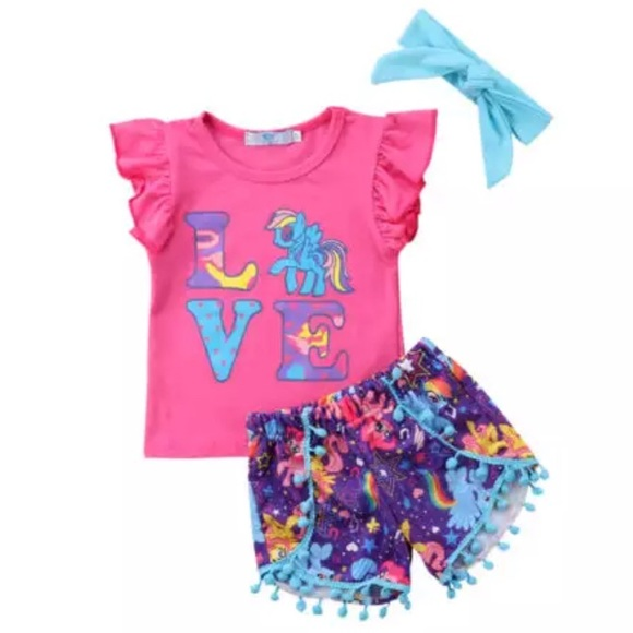 Girls my little pony 3 piece outfit 7fe58f013
